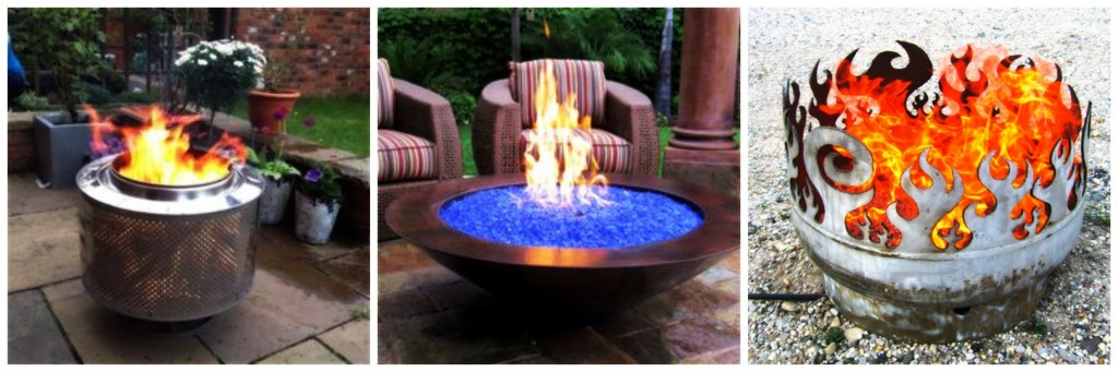 Fire glass, burner pits and fire pits