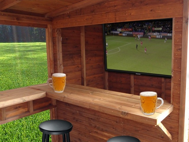 Never Mind Man Caves, Here are Bar Sheds